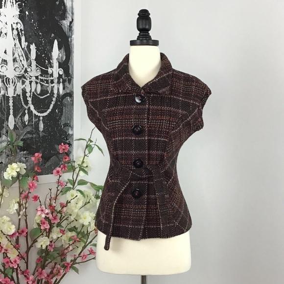 CAbi Jackets & Blazers - CAbi 691 Cinch Up Plaid Jacket Vest